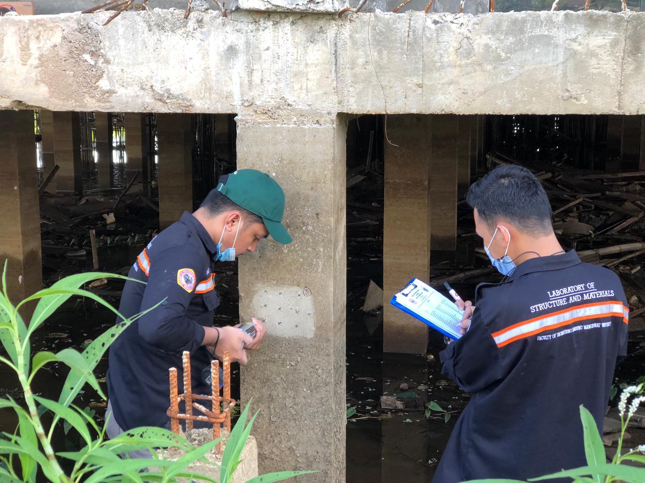 Tim Ahli ULM Audit Kualitas Gedung Samsat Amuntai