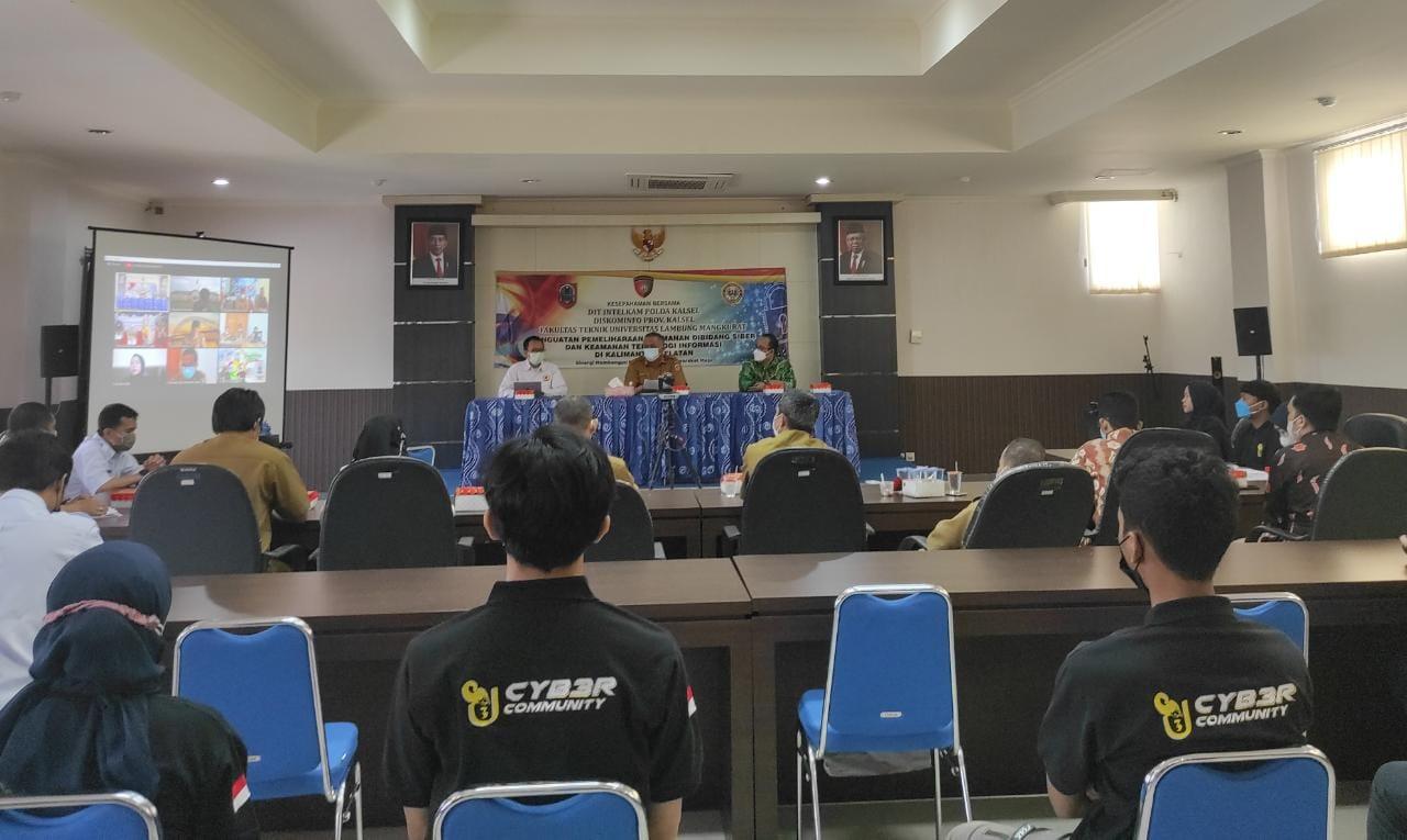 Dit Intelkam Polda dan Diskominfo Kalsel Libatkan Mahasiswa FT ULM untuk Perkuat Keamanan Siber di Banua
