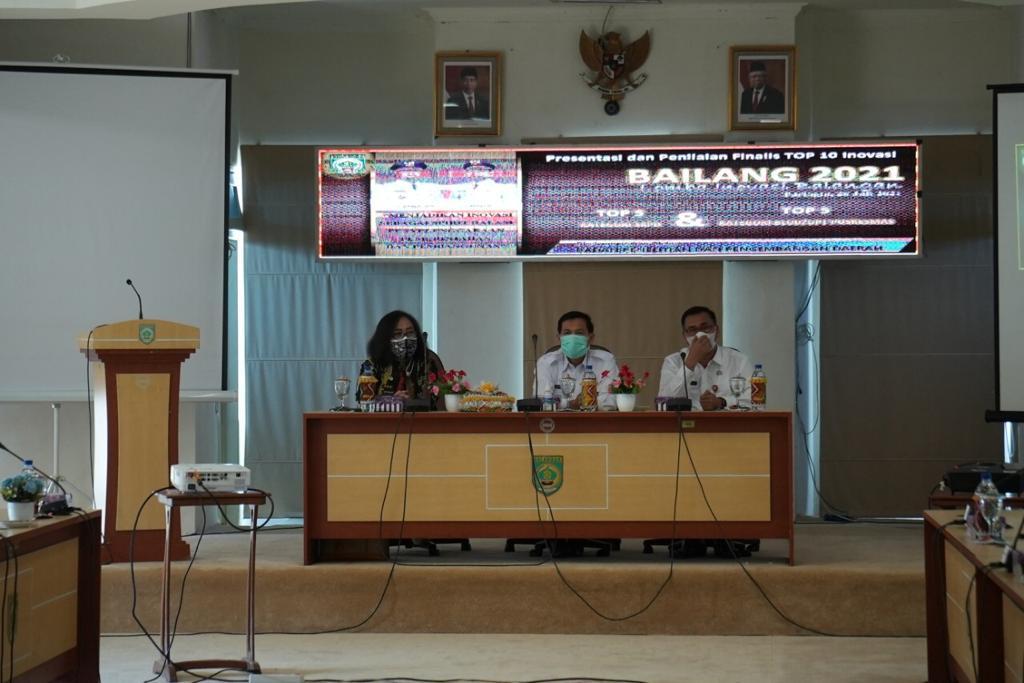 Balitbangda Kabupaten Balangan gelar presentasi dan penilaian untuk finalis top 10 inovasi Bailang (Lomba Inovasi Balangan) tahun 2021