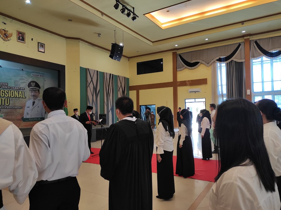Pemerintah Kota Banjarbaru Lantik 91 Pejabat Fungsional